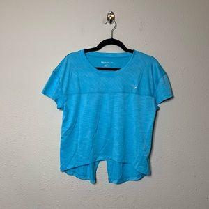 Beachbody Blue Energy Mesh Crop T Shirt